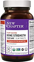 New Chapter Calcium Supplement– Bone Strength Whole Food Organic Calcium with Vitamin K2 + D3 + Magnesium, Vegetarian, Gluten Free - 180 count (2 month supply)