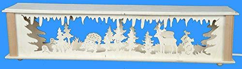 Verlichte stwibbogenerverhoging met egel- en hert grootte = 72 x 10 cm NIEUW Ertsgebergte accessoires lichtboog