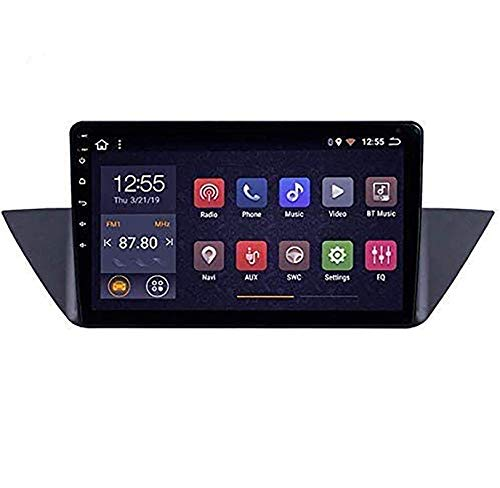 WHL.HH Androide 8.1 GPS Navegación Coche Radio, 10 Pulgada Toque Pantalla para BMW X1 E84 2009-2013, con Direccion Rueda Controlar Bluetooth LENGUADO USB,1+16G