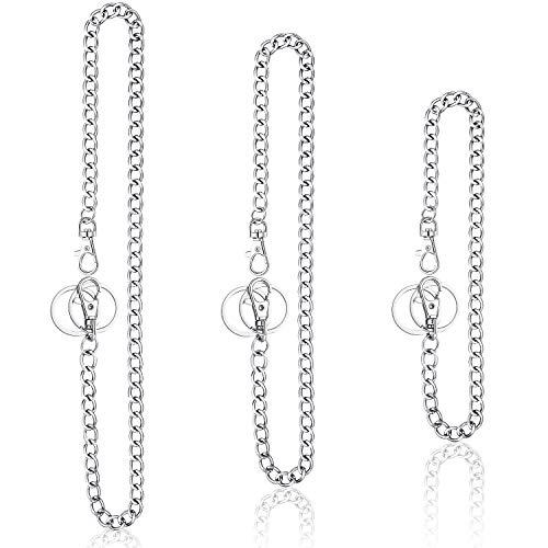 BBTO 3 Stücke Hosen Kette Tasche Kette Gürtel Metall Jeans Kette Brieftasche Kette mit Karabinerverschlüssen und Schlüsselring für Männer Frauen Schlüssel Brieftaschen