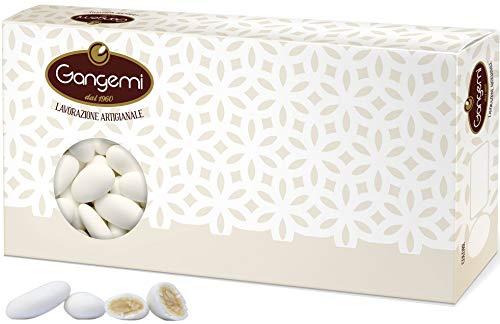 Gangemi Confetti - Feine Hochzeitsmandeln Klassische italienische Hochzeit Gastgeschenke - ZuckerMandeln aus Sizilien (ca 280 Stück) Weiß - 1 kg