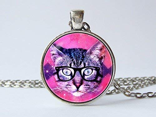 Cat Pendant Rave Jewelry Cat Necklace Cat Jewelry Party Necklace Rave Gift