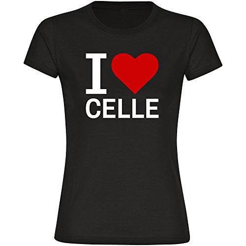 T-Shirt Classic I Love Celle schwarz Damen Gr. S bis 2XL, Größe:XXL