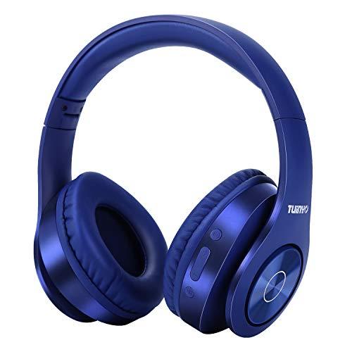 Auriculares Bluetooth Inalámbricos, Auriculares Estéreo Inalámbricos Tuinyo 35H Tiempo de Juego con Bajos Profundos, Orejeras de Proteína de Memoria Suave, Micrófono Incorporado Modo con Cable PC/TV