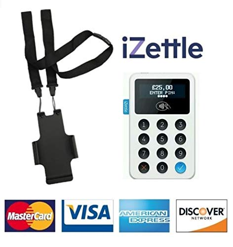 iZettle Card Reader Pro - Contactloze Chip & Pin Readers & Printers - Kies uw Variaties (Alleen witte kaartlezer & Gratis Neck Lanyard)