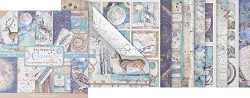 Stamperia Blocco di Carta 10 Fogli Double-Face Cosmos, Multicolore, 30.5 x 30.5 (12' x 12')