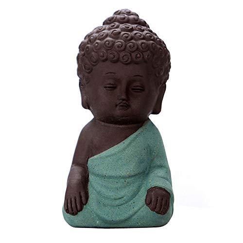 QWERWEFR 8 * 4 cm Buddhismus Litlle Meditation Mönch Kleine Statuen Miniatur Handwerk Buddha Statuen Ton Mini Chinesischen Buddhismus Zen Mönche,A