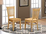 East West Furniture VAC-OAK-W Vancouver dining room chairs - Wooden Seat and Oak Solid wood Structure dining chair set of 2