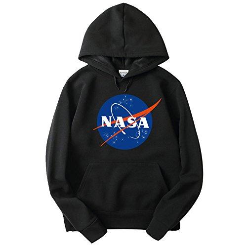 CTOOO IFITBELT Hombre y Mujer NASA Sudadera con Capucha de Bolsillo y Estampado en el Pecho