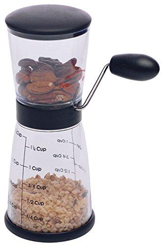 Westmark Nussmühle mit Messbehälter, Fassungsvermögen ca. 0,35 L/1, 25 Cup, Kunststoff/Edelstahl, 97702260