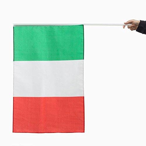 Genérico - Bandera de Italia con asta (90 x 60 cm): Amazon.es: Hogar