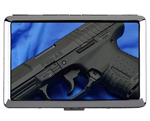 Zigaretten-Etui, Waffe Walther P99 Pistole Professionelle Visitenkarte
