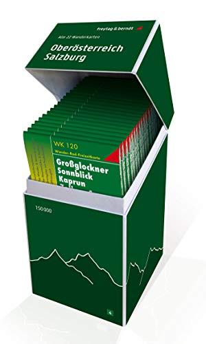 Oberösterreich - Salzburg, Wanderkarten Set 1:50.000: Alle 22 Wanderkarten für die Region in einer praktischen Box! (freytag & berndt Wander-Rad-Freizeitkarten)