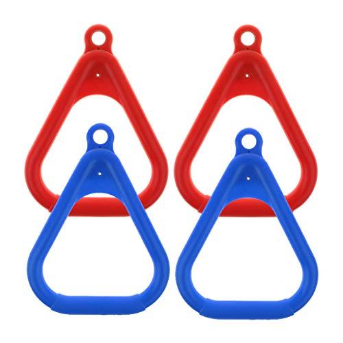 lahomia 4X Set di Anelli per Palestra da Altalena per Parco Giochi All'aperto Coperto per Bambini (Rosso Blu)