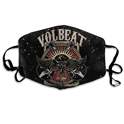 Volbeat Face Nose Mundabdeckung mit Verstellbarer wiederverwendbarer Earloops-Abdeckung