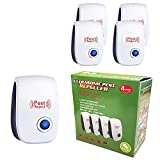 MAIKAILUN 4 Pack Pest Repeller, Mice Repellent, Ant Cockroaches Mosquitoes Bed Bugs Spiders Repellent Indoor, Electronic Pest Repeller