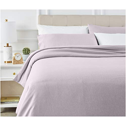 AmazonBasics - Juego de ropa de cama con funda de edredón, de microfibra, 200 x 200 cm, Morado (Purple Dusk)