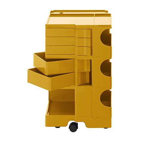 Boby M 35 Rollcontainer, honiggelb Pantone 7550 5 Schubkästen BxHxT 43x73,5x42cm