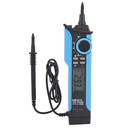Digitales Stift-Multimeter, EM3215 LCD Digitales Multimeter Autorange-Messgerät Markierungsstift-Typ Tester, tragbares Taschen-Multimeter mit mehreren Messgeräten