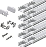 Aluminum Channels for Led Strip Lights - StarlandLed 20Pack Led Profile U Track with Cover...