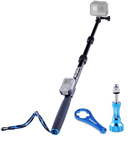 Smatree S2 All-Aluminum Alloy Telescopic Pole Compatible for Gopro Max/GoPro Hero 8/7/6/5/4/3 Plus/3/2/1/Session/DJI OSMO Action Camera (WiFi Remote Controller is Not Included)