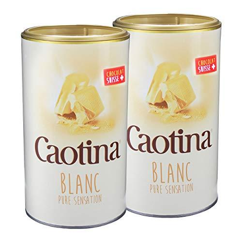 Caotina blanc, Cacao en Polvo de Chocolate Blanco Suizo, Bebida Caliente de Chocolate, Pack Doble, 2 x 500 g