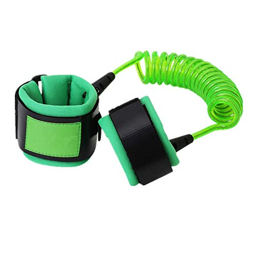 LuKe Anti Lost Wrist Link,Child Outdoor Safety Harness Walking Leash for Toddlers and Kids,1.5M (Green)