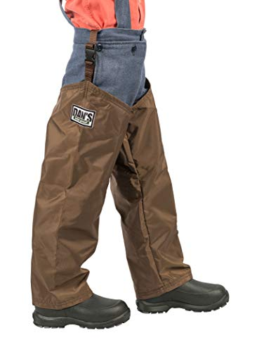 High-n-Dry Briar Proof, Waterproof, Kid's Chaps, Made in U.S.A. (Small 18' Thigh/16 Inseam) Brown