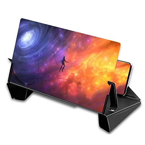 Lente d'ingrandimento dello schermo del telefono 3D, amplificatore per smartphone con schermo da 12 pollici ingrandisce 2-5 volte con tutti gli smartphone, ingranditore di film pieghevole(Nero)