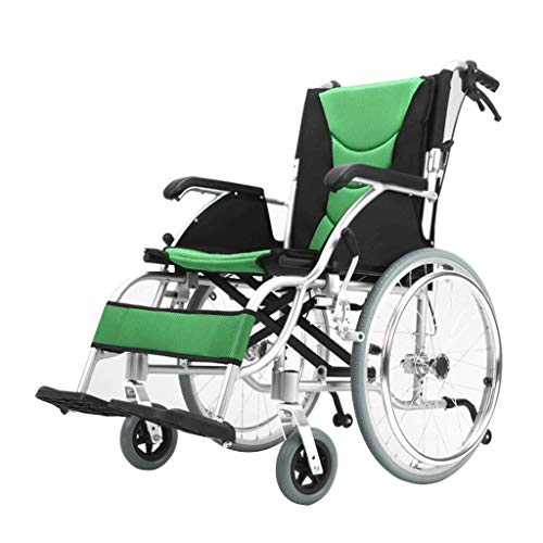 Selbstfahrender Rollstuhl, Luxus, manuell Aluminium Folding Selbst Push Rollstuhl, bewegliche helle Reise Trolley Senioren Menschen mit Behinderungen Scooter vierrädriges Fahrzeug Leichtes Mobilitätsg