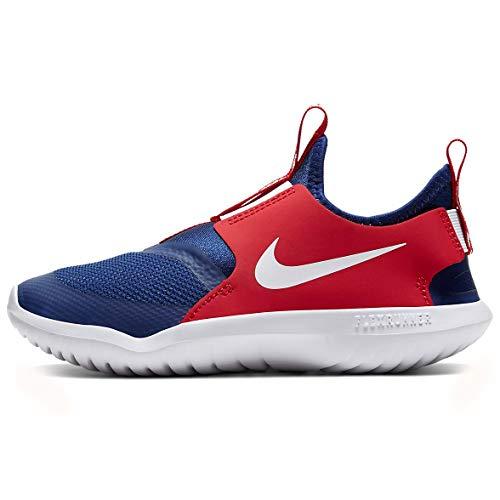 Nike Unisex-Kid's Revolution 5 Pre School Velcro Running Shoe, Gym Red/Whiteblack, 1Y Regular US Little Kid