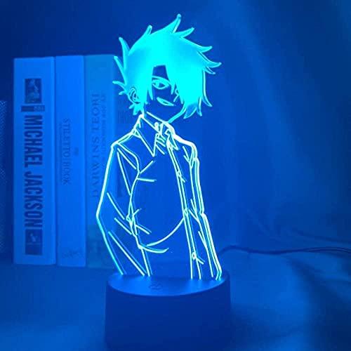 Lámpara de ilusión 3D Noche Luz LED Mano Anime Carácter Tema Masculino Diseño Atmósfera Tabla Lámpara Niños Cumpleaños Regalo Dormitorio Dormitorio Decoraciones