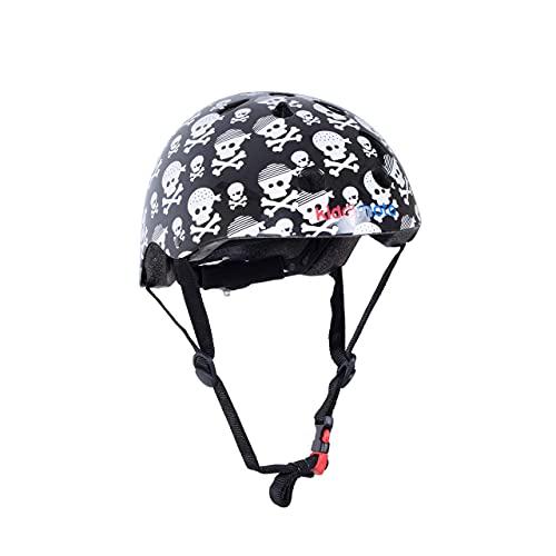 Kiddimoto Fahrrad Helm für Kinder / Fahrradhelm / Design Sport Helm für skates, roller, scooter, laufrad - Skullz / Pirat - S (48-53cm)