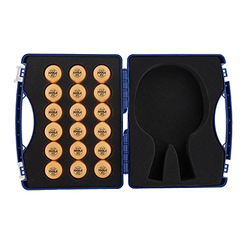 JOOLA Tour Carrying Case - Ping Pong Paddle Case with 18 40mm 3 Star Competition Ping Pong Balls and Space for Storing 2...