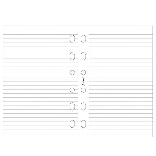 Filofax 213047 Pocket Notizpapier, liniert, 100 Blatt, weiß