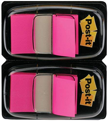 Post-it 680-BP2EU - Dispensadores de notas adhesivas (25.4 x 43.2 mm, 2 unidades x 50 marcapáginas), color rosa