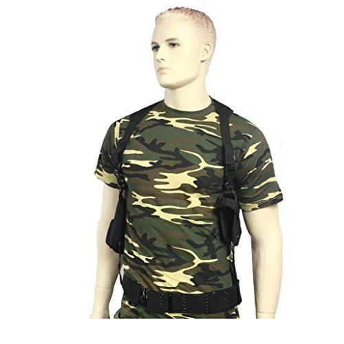 AOS-Outdoor Tactical Schulterholster mit Magazintasche schwarz + Koppel