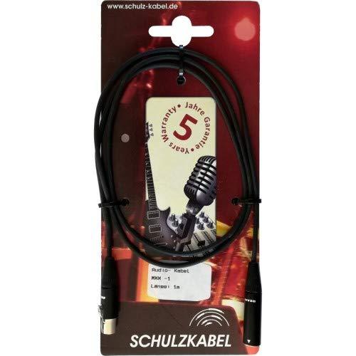 Schulz Kabel Mini XLR fem/Mini XLR male 1m