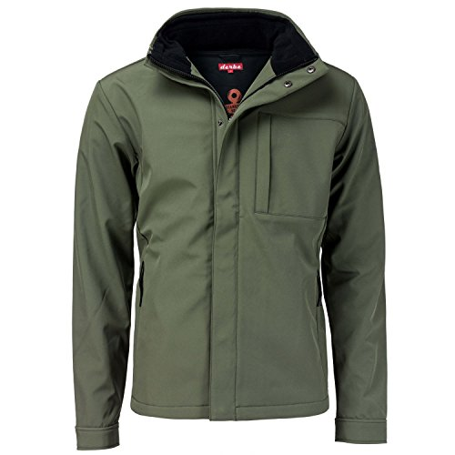 Derbe Hamburg Herren Softshelljacke Seaforth, Grün, XXL
