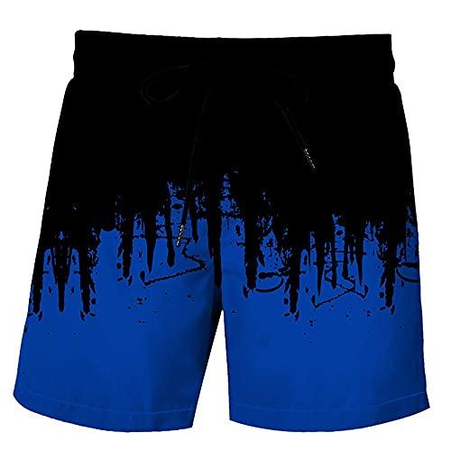 MLX-BUMU Camouflage Pantalones Cortos De Verano para Hombre Pantalones Cortos Informales De Hip Hop con Estampado 3D para Hombre Pantalones Cortos De Playa,XXXL