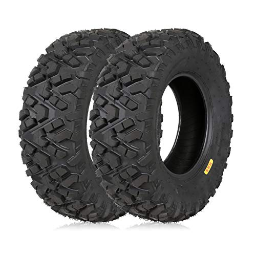 "Weize All Terrain ATV Tires, Front 25x8-12, 6PR, 205/80-12, 25"" 25x8x12 UTV Tire, Set Of 2"