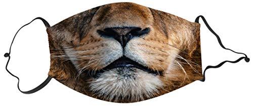 ERFURTH FUN Mund-Nase-Maske Löwe Mund Aufdruck 11 cm x 16 cm