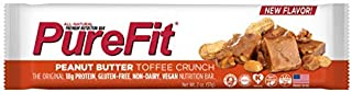 PureFit Peanut Butter Toffee Premium Nutrition Bars, 15 Count   18G Protein, Performance Enhancement & Energy Bar – Gluten Free, Dairy Free, Low Carb, Vegan