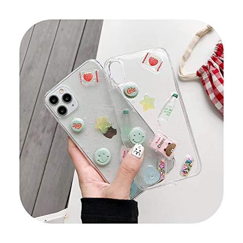 Carcasa suave para iPhone 11 Pro Max XR X XS Max 7 8 Plus, diseño de galletas en 3D, con diseño de caramelos y fideos