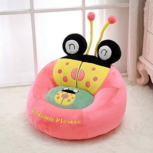 Kindersessel, Kindersessel Cartoon Plüschtiere Kleines Sessel,waschbar Für Jungen und mädchen Kinder sessel,Rosa,W50xH50cm(20x20inch)