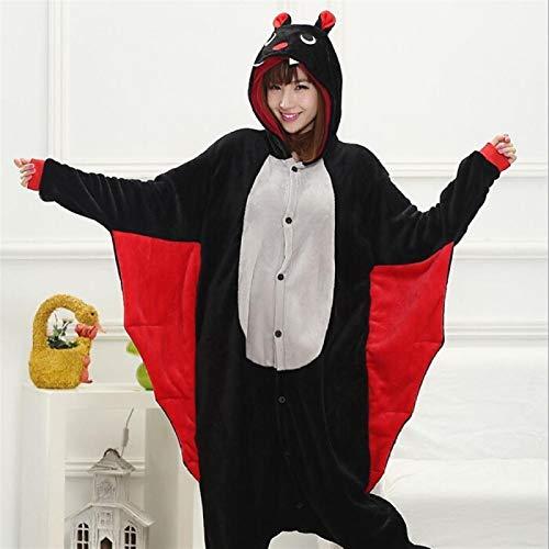 CQOQ Nueva Navidad Onesie Animal Pijamas Edad Mujeres Onesie De La Panda Conejo (Color : Bat, Size : Large)