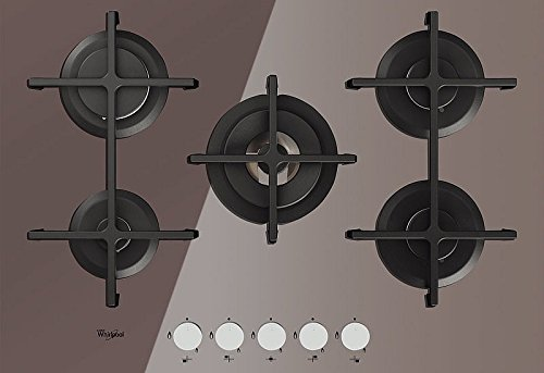 Whirlpool GOA 7523/S hobs – Gas-Kochfeld, Glas, drehbar, vorne, 230 V, silberfarben