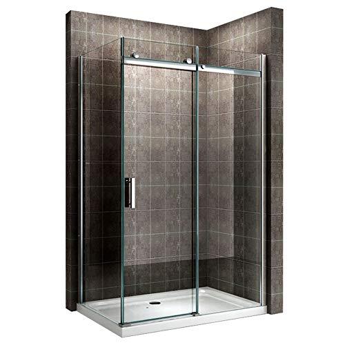 Duschkabine 140x80 cm mit Schiebetür Duschabtrennung Dusche Duschkabine 8mm Klarglas DK806 - alle Groessen