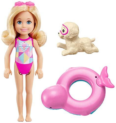 Mattel Barbie FCJ28 Magie der Delfine Chelsea und Farbwechsel-Rettungsring