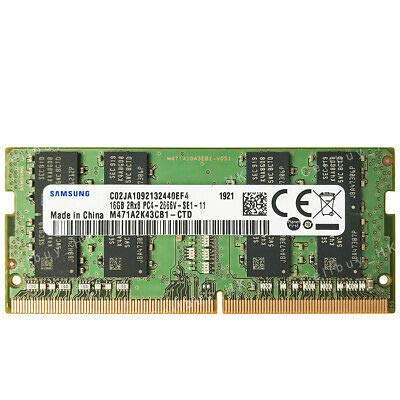 Samsung 16GB DDR4 PC4-21300, 2666MHZ, 260 PIN SODIMM, 1.2V, CL 19 laptop ram memory module